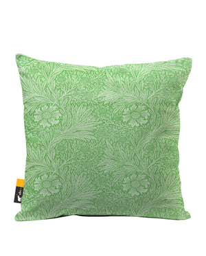 Jade Blossom Faux Suede Throw Pillow