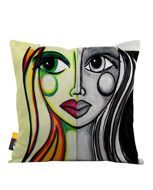 Juxtaposition Throw Pillow