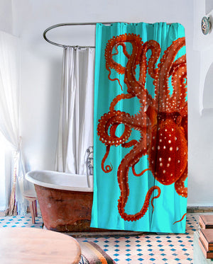 Killer Octopus Shower Curtain