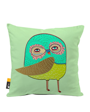Little Owl Faux Suede Throw Pillow