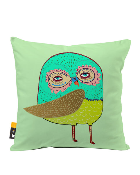 Little Owl Luxe Suede Throw Pillow