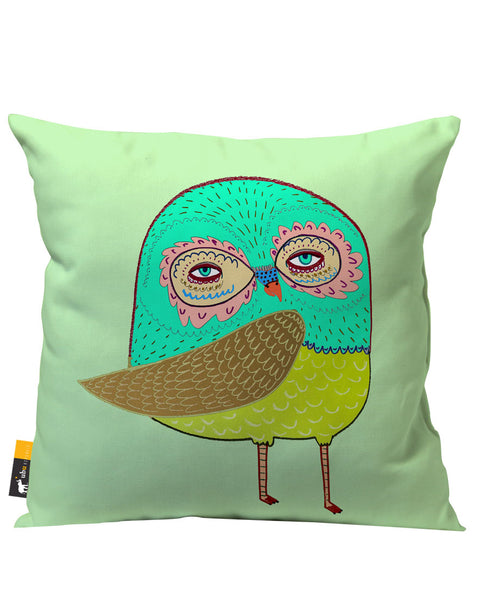 Green Owl Patio Pillow