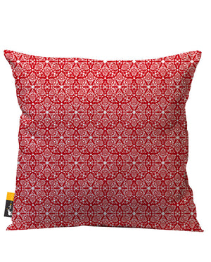 Ruby Damask Outdoor Throw Pillow
