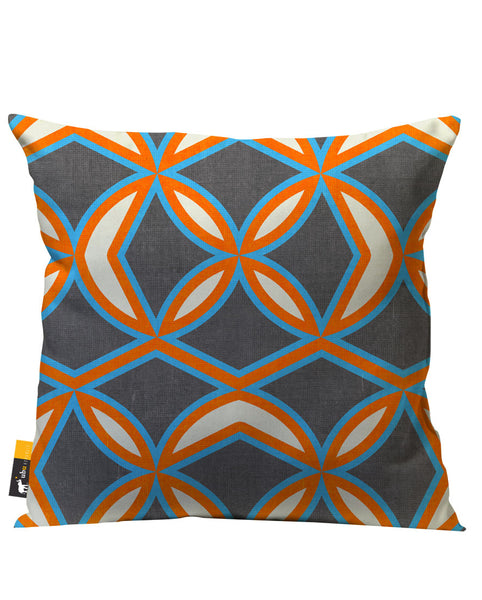 Brown and Orange Retro Patio Pillow
