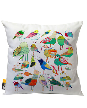 Bird Picnic Outdoor Throw Pillow