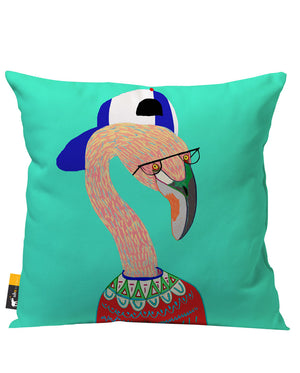 Lazy Flamingo Outdoor Throw Pillow