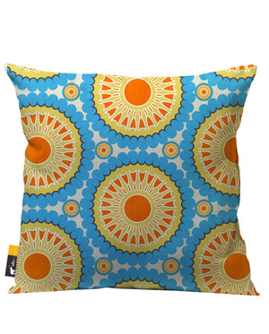 Retro Nectarine Outdoor Throw Pillow
