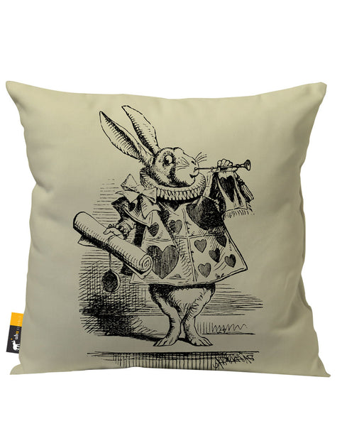 Alice In Wonderland Tan Vintage Outdoor Throw Pillow