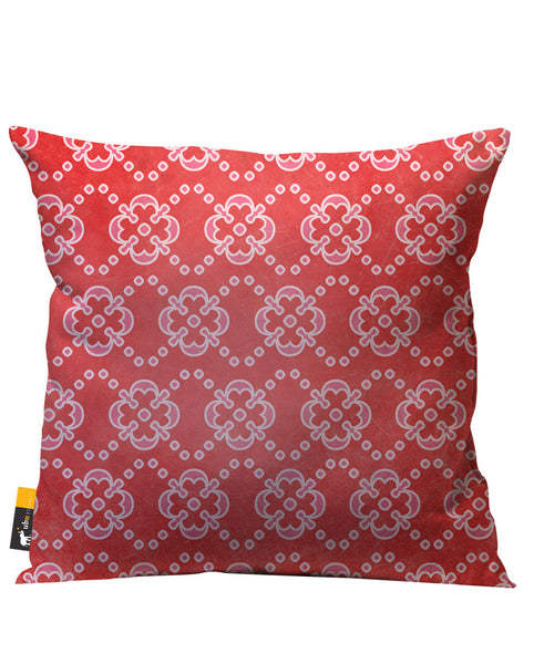 Red and pink vintage outdoor patio pillow
