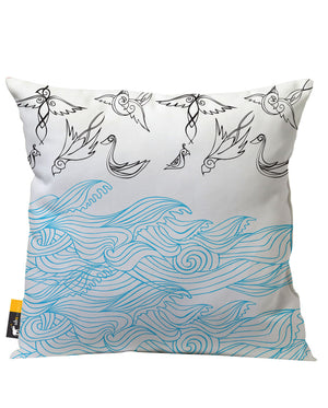 Tidal Wave Outdoor Throw Pillow