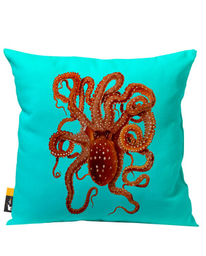 Killer Octopus Outdoor Throw Pillow
