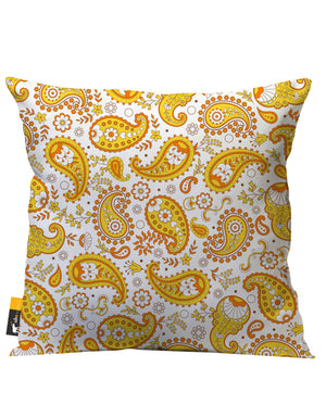 Pumpkin Paisley Outdoor Throw Pillow