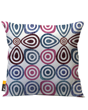 Multi Color Retro Design Patio Pillow