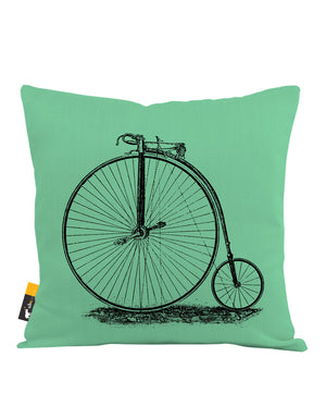 Penny Farthing Throw Pillow