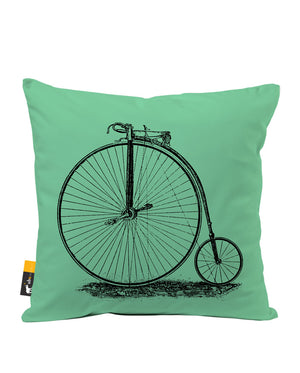 Penny Farthing Faux Suede Throw Pillow