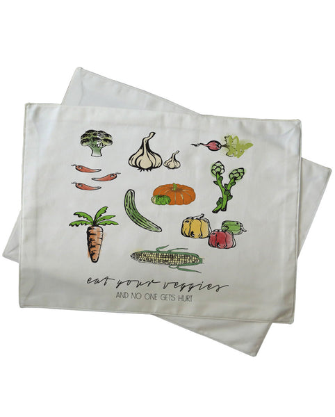 Eat Your Veggies And No One Gets Hurt Placemat