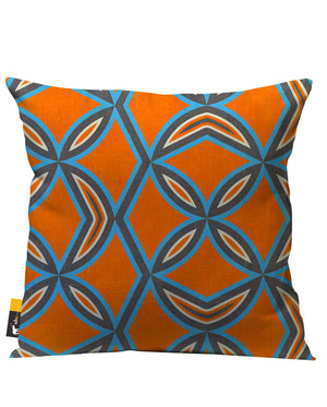 Orange retro Patio Pillow