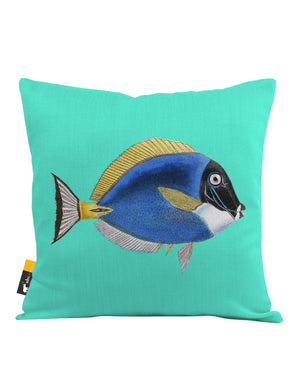 Powder Blue Tang Throw Pillow