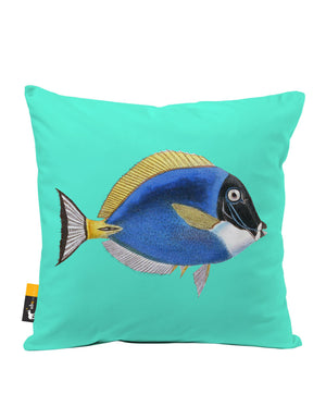 Powder Blue Tang Faux Suede Throw Pillow