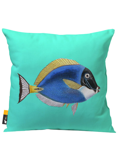 Powder Blue Tang Outdoor Throw Pillow