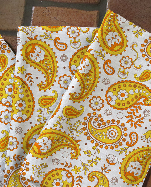 Pumpkin Paisley Tea Towels
