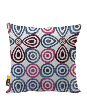 Retro Lounge Faux Suede Throw Pillow