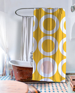 Retro Ringer Shower Curtain