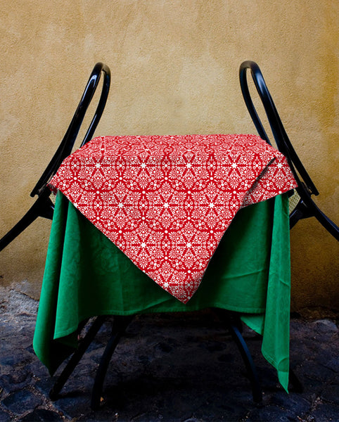 Ruby Damask Tablecloth