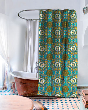 Bohemian Lotus Shower Curtain