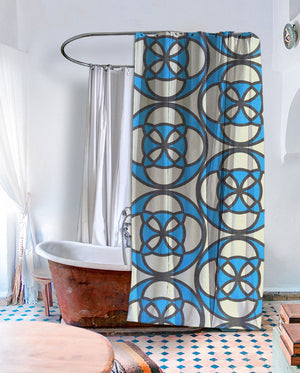 Retro Cafe Shower Curtain