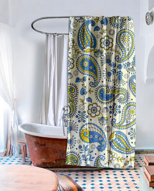 Indie Paisley Shower Curtain
