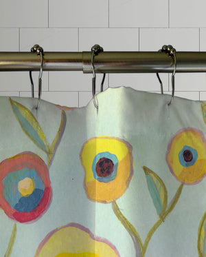 Painted Pansies Shower Curtain