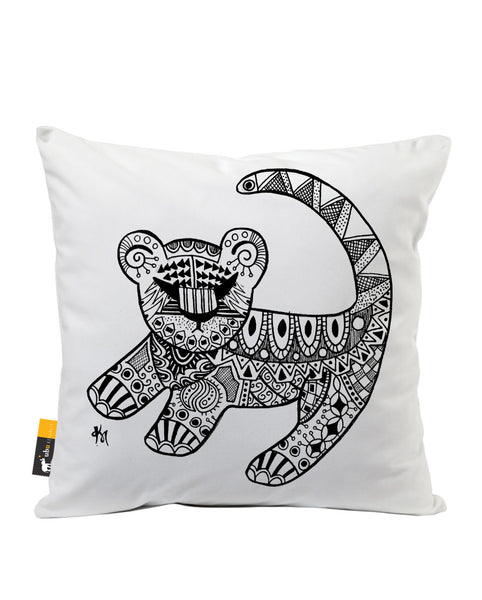 Simba Luxe Suede Throw Pillow
