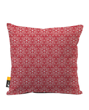 Ruby Damask Faux Suede Throw Pillow