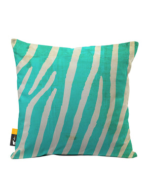 Indigo Zebra Faux Suede Throw Pillow