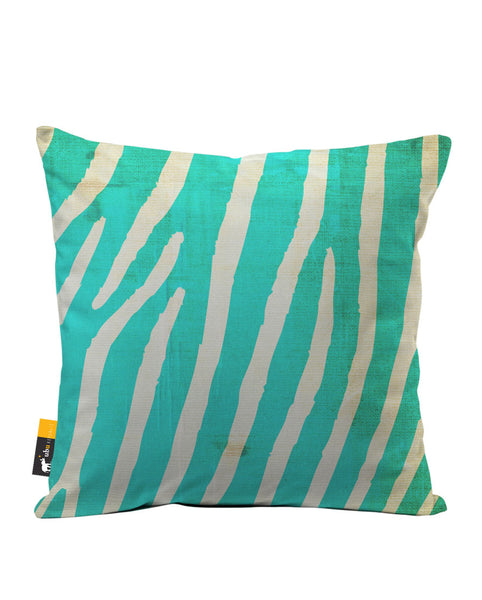 Indigo Zebra Luxe Suede Throw Pillow