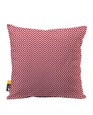 Retro Ruby Faux Suede Throw Pillow
