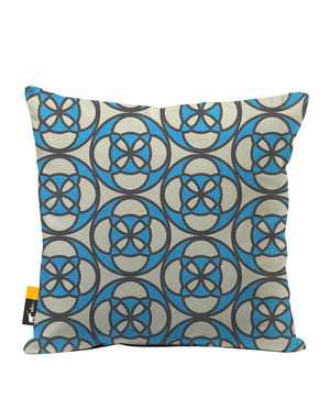Retro Cafe Faux Suede Throw Pillow