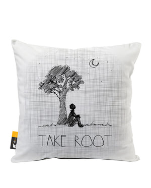 Take Root Faux Suede Throw Pillow