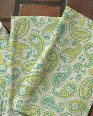 Lime Paisley Tea Towels