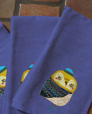 Winter's Eve Owl Tea Towels