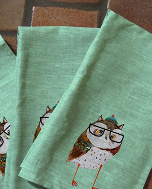 Cozy Owl Tea Towels