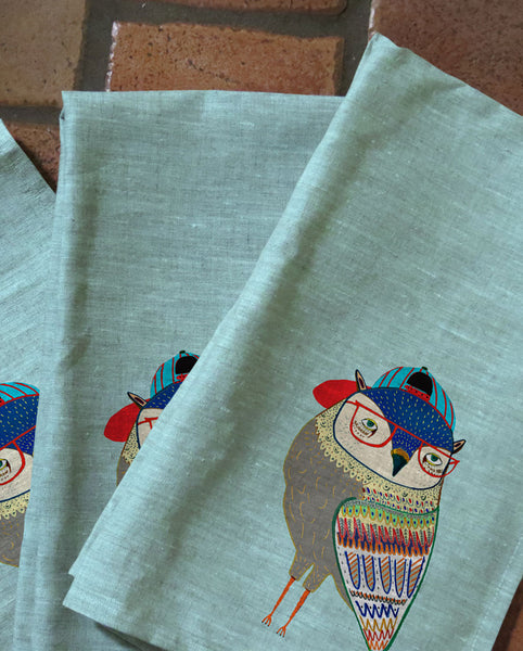 Retro Owl Tea Towels