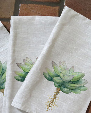 Succulent Tea Towels