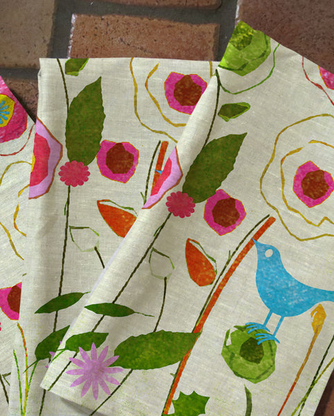Blue Bird Tea Towels