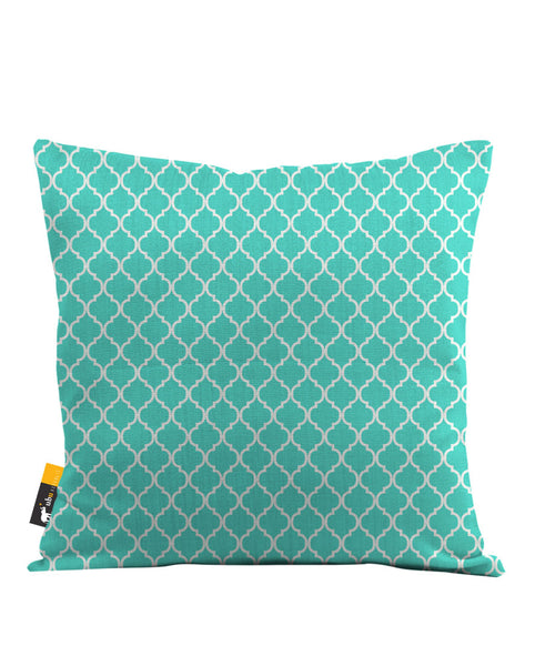 Teal Moroccan Throw Pillow