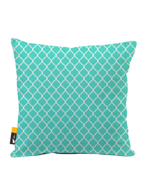Teal Moroccan Faux Suede Throw Pillow