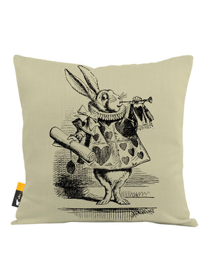 White Rabbit Throw Pillow
