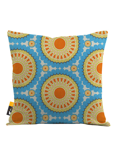 Retro Nectarine Throw Pillow
