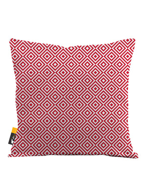 Retro Ruby Throw Pillow